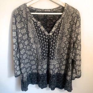 Lucky Brand size 3X V-Neck Top